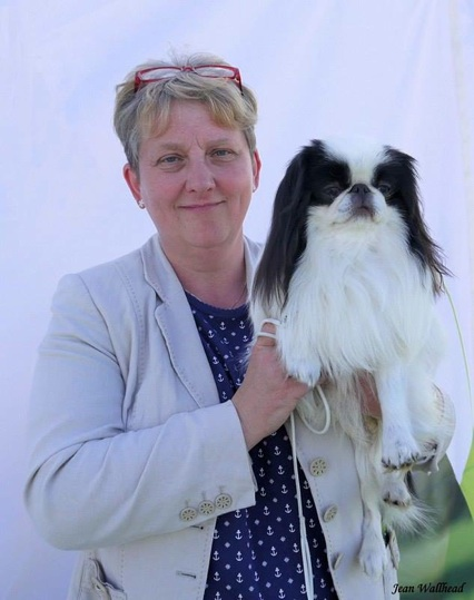 Loraine Ratter with a Japanese Chin